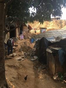 ミャンマー避難民 水浴び 5