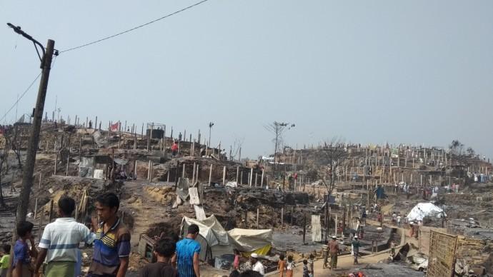 Fire affected Rohingya camp 8E
